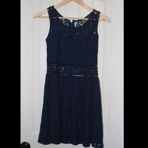 Blue Lace Formal Dress